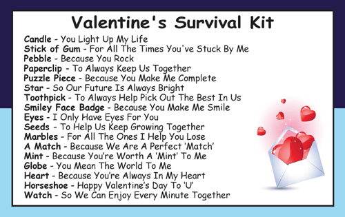 Valentine S For Him Survival Kit In A Can